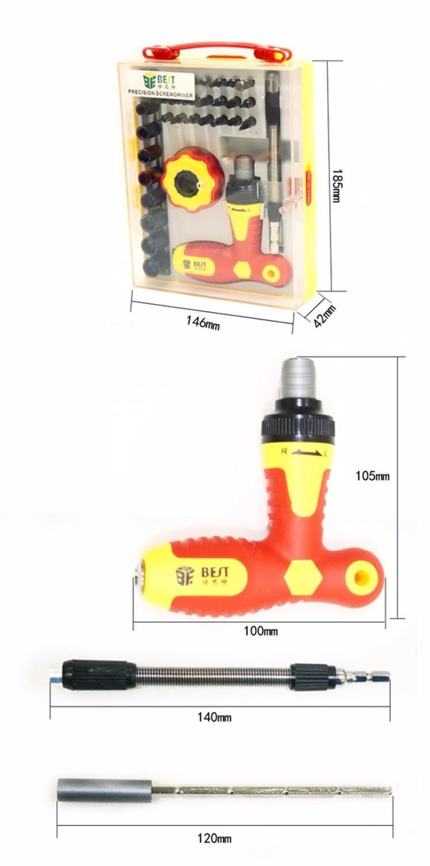 Set di cacciaviti magnetici di precisione 34 in 1 Kit di strumenti di - Utensili manuali - Fotografia 2