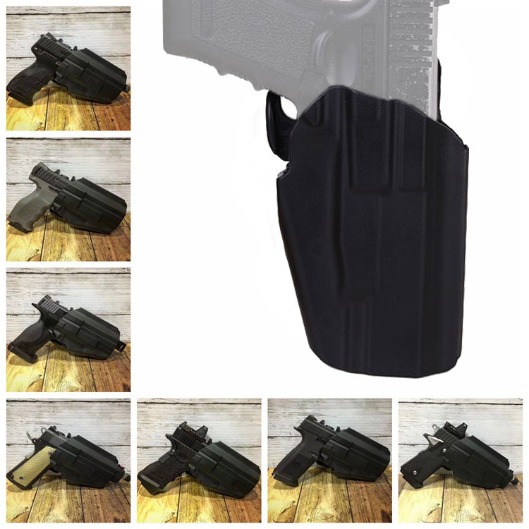 US $10 3 20% OFF|Tactical Pistol Holster Gls Pro Fit Holster all Handgun  Standard Hunting Holster for Glock/H&K/Taurus/Sig/S&W/M&P/92F-in Holsters