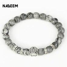 Hot Selling Natural Stone Mala Bead Yoga Bracelet Pitbull Do