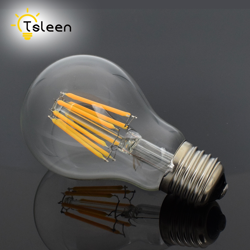 E27 Dimmable Led Light 16W 230V 220V Filament lamp Antique Retro Edison COB Ball Bulb lampada led A60 Retro Incandescent Light lumiparty classical edison bulb e27 8w filament luminaria tubular nostalgic filament incandescent antique light bulb home lamp