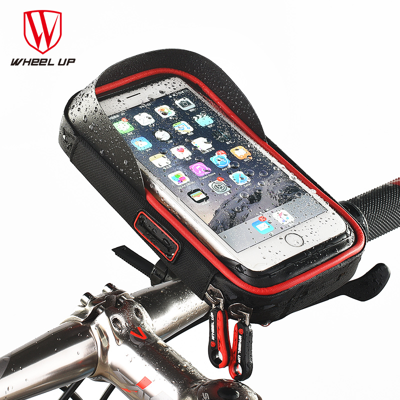 imágenes para Universal de 6.0 pulgadas de la Bici del Teléfono Del Bolso Impermeable de TPU Pantalla Táctil Bolsas de MTB Marco de la Bolsa del Teléfono celular para El Iphone Samsung Htc