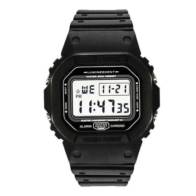 ספורט שעון גברים שעונים זכר ספירה לאחור שעון מעורר כרונו דיגיטלי שעוני יד 50M עמיד למים Relojes דה hombre דיגיטלי שעון