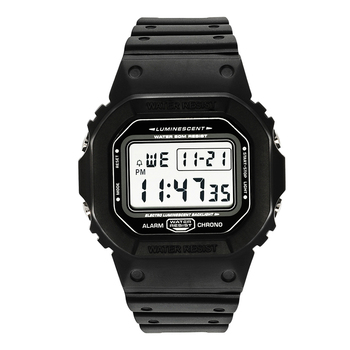 44mm Big Dial Digital Sports Watches Men Clocks Male Alarm Chrono 5ATM Waterproof - discount item  68% OFF Men's Watches