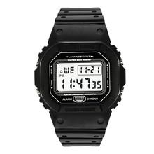 กีฬานาฬิกาชายนาฬิกาชายนาฬิกานับถอยหลังนาฬิกาปลุกนาฬิกาปลุกChronoดิจิตอลนาฬิกาข้อมือ 50Mกันน้ำRelojes De Hombreดิจิตอลนาฬิกา