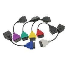 Cabo diagnóstico do adaptador do conector do automóvel de 6 cores o mais atrasado para fiatecuscan e multiecuscan para fiat alfa romeo e lancia
