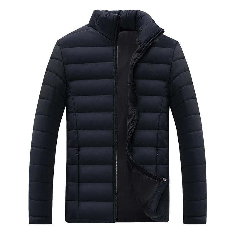 100% Kwaliteit Drop Verzending 2018 Mannen Winter Jas Stand Kraag Winter Jas Man Parka Casaco Masculino S-3xl Axp193