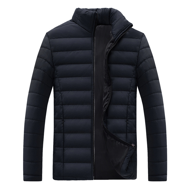 drop shipping 2018 men winter jacket stand collar winter coat man   parkas   casaco masculino S-3XL AXP193