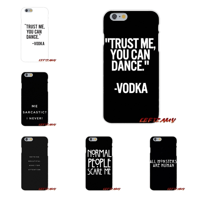 huge discount 1865b 8dc5e US $0.99 |Accessories Phone Cases Covers Trust Me You Can Dance Vodka For  iPhone X 4 4S 5 5S 5C SE 6 6S 7 8 Plus-in Half-wrapped Case from Cellphones  ...