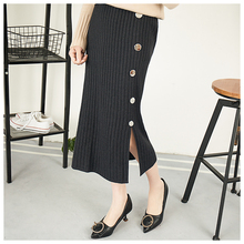 Hot Sale Button Knitted Women Skirt Pencil Skirt With High Waist Tight Office Skirt Fashion Slim Casual Package Hip Skirt D173 2019 newly fashion droppshiping womens office skirt casual skirt pencil skirt ol skirt office wear bfj55