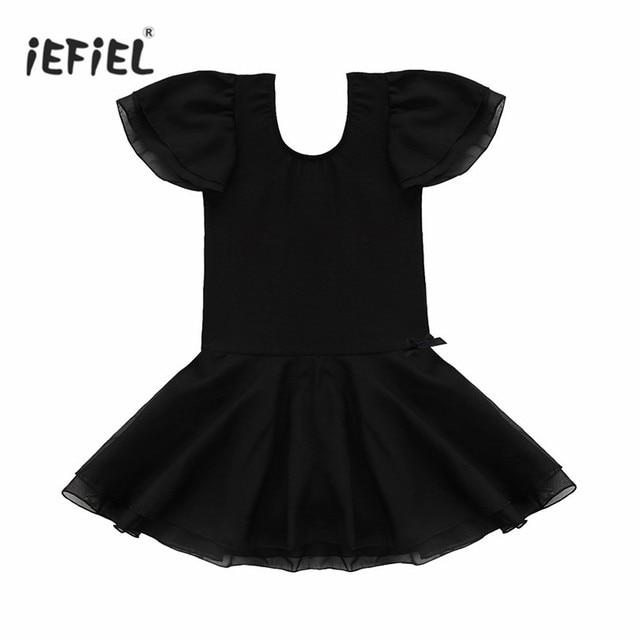 Mädchen Gymnastik Trikot Kleid Kleidung Kinder Dancewear Fairy Party ...