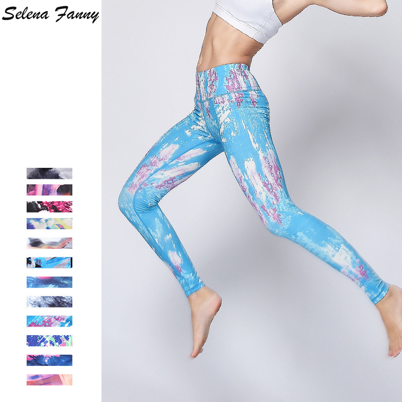Professional Yoga Sports Pants Elastic Gym Training Clothes Women Sports Fitness Running Pants Female Tight Yoga Trousers S-XL new winter yoga suit five piece female ms breathable coat of cultivate one s morality pants sports suits running fitness