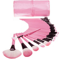 32 Unids Fundación Pincel de Maquillaje Profesional Eye Liner Cejas Sombra de Ojos Pestañas Cejas Lápices Labiales Polvo Compone Cepillos Herramientas