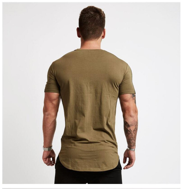 2018 Summer Men T-shirts  Fitness Bodybuilding Crossfit Cotton Shirts Gyms Short Sleeve T-shirt Men Casual Tight Tees Tops