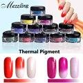 1 g/caja Pigmento Termocrómico Tempature Color Térmica Cambiar Clavo Del Polvo Del Polvo Decoración de Uñas Gradiente Polvos