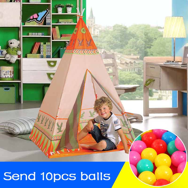 Children Tents Indian Toy Teepee Safety Tent Portable Play house Kids Indoor Game Room Outdoor Tourist