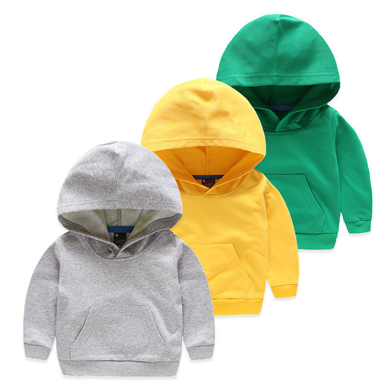 Boys Hoodies Sweatshirts For Kids Children Long Sleeve Hooded Solid Active Clothes Boy Sport Suit Girl Outdoor Clothing MC8899
