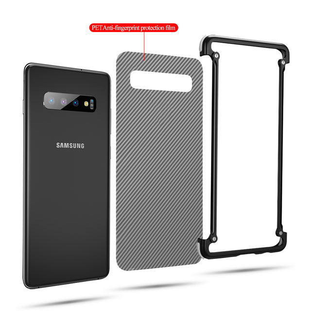 OATSBASF Samsung Galaxy S10 Luxury Airbag Metal Bumper Case Cover