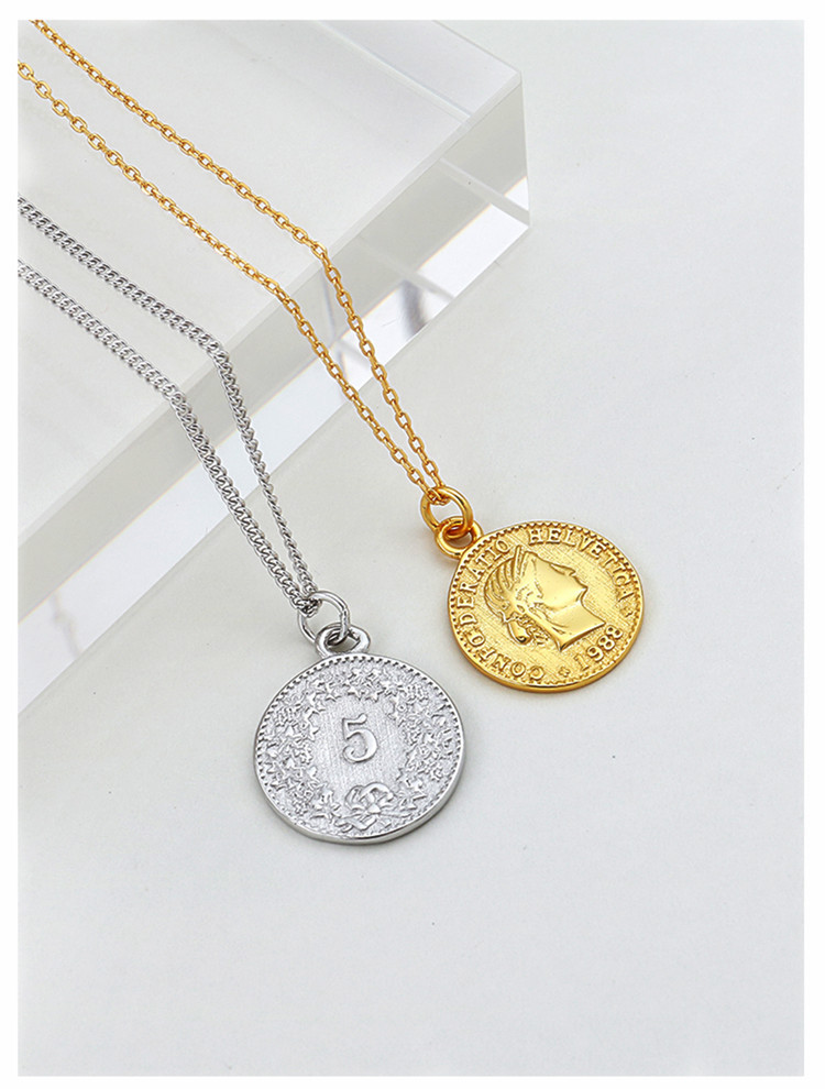 HTB1AuLpaizxK1Rjy1zkq6yHrVXaZ - Bohemia Real Silver Color Long Round Coin Choker Necklaces For Women Wedding Jewelry Gift Boho Necklace joyas de plata