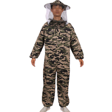 Beekeeping tools bee anti-bee camouflage clothing export quality high quality one-piece protective clothing bee clothing bee cap
