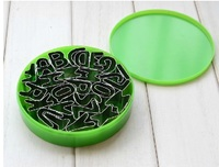 26 Pcs Stainless Steel English Alphabet Cookies Fruit Sugar Cutting Mold