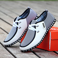 2016 New Spring And Autumn Men Shoes Men Casual Shoes Breathable Flats Lacing Fashion Men Leather Shoes Plus Size Free Shipping
