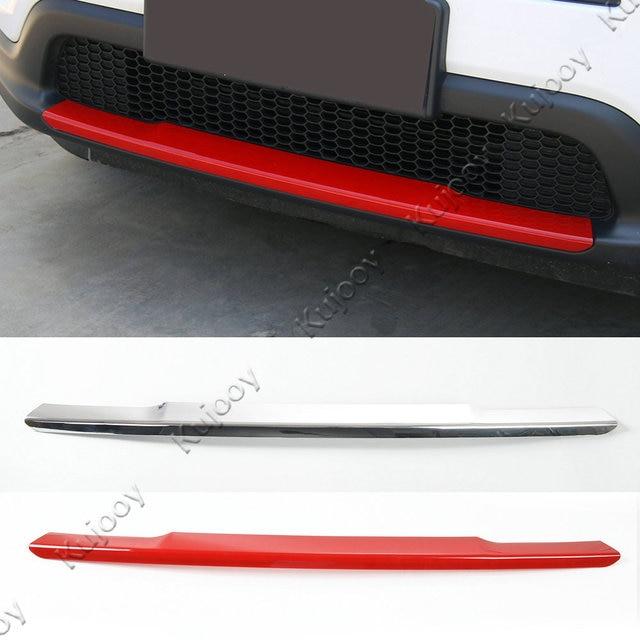 Rot/Silber Für Jeep Compass 2017 + ABS Auto Vorderen Stoßfänger Platte Abdeckung Dekorationen Zubehör Schutzdeckel