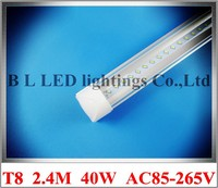 Tube Base All In One Integrated LED Tube Light Lamp SMD 3014 2 4m 2400mm