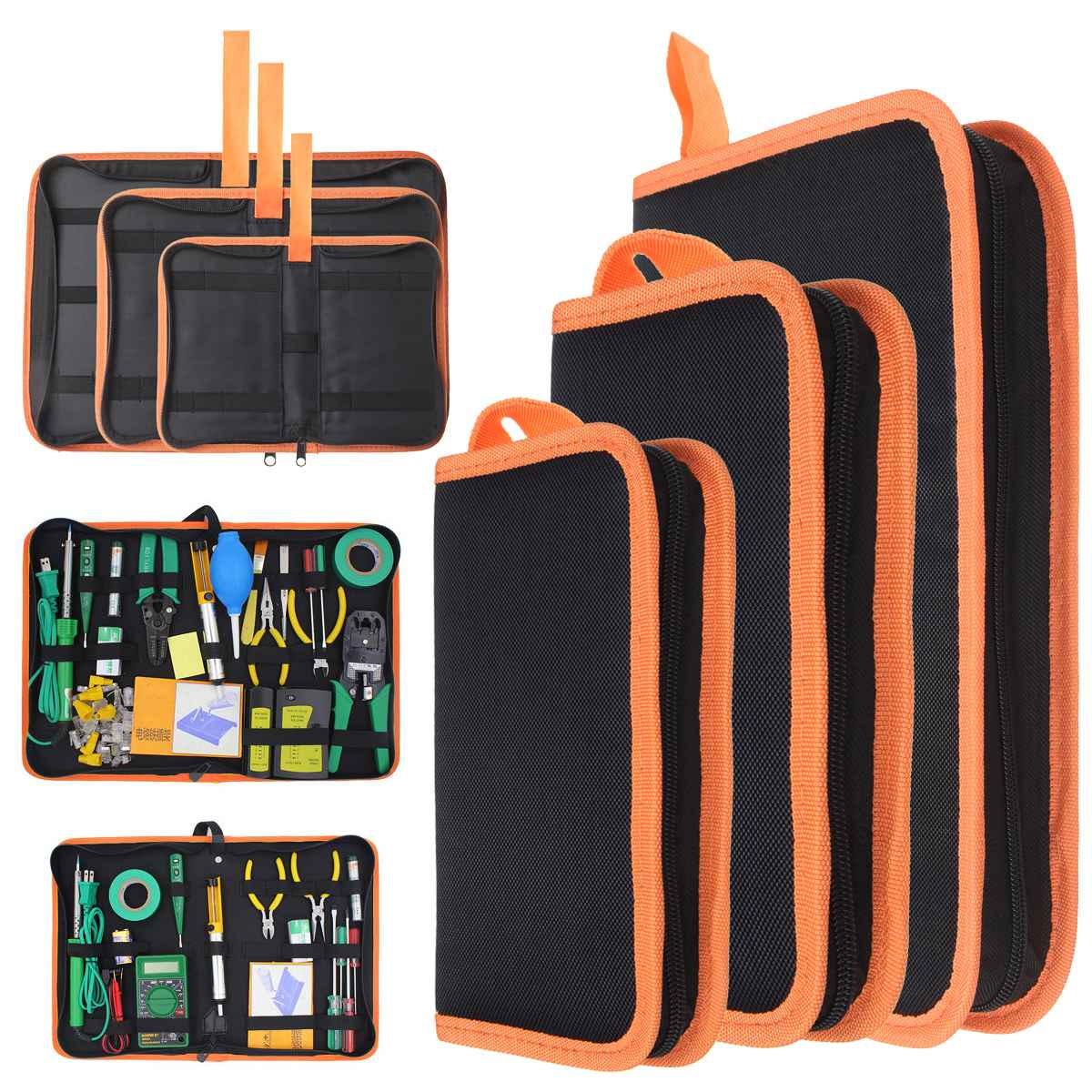 Portable Heavy   Repair Hardware Toolkit Storage Tools Carrier Bag Oxford Fabric Handy Pouch Handbag Zip New S M L Drop Ship