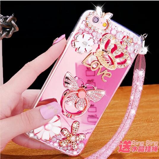 Для iPhone 6 6 S плюс 5.5 дюйма Чехол блеск зеркало телефона Чехол для iPhone 6/6 S Plus роскошные Алмаз чехол для Обувь для девочек Для женщин крышка