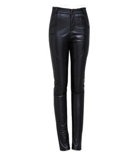 Taille Femelle Cuir Black La M De Vêtements Crayon Plus Mode Chaude 4xl Mouton Femmes Nouvelles 2018 Serré Pantalon Peau Véritable En BB6Tw7q