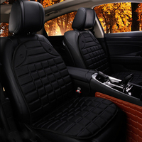 Heated Car Seat Cushion Pad Electric Black Gray Universal 2Pcs Set Automobiles Seat Covers Winter Supply
