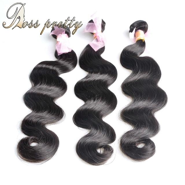 Grado de Calidad 7A peruana virgin hair Body Wave Extensiones de Cabello Humano Productos para el cabello rosa 3 paquetes Peruano Onda Del Cuerpo Del Pelo trama