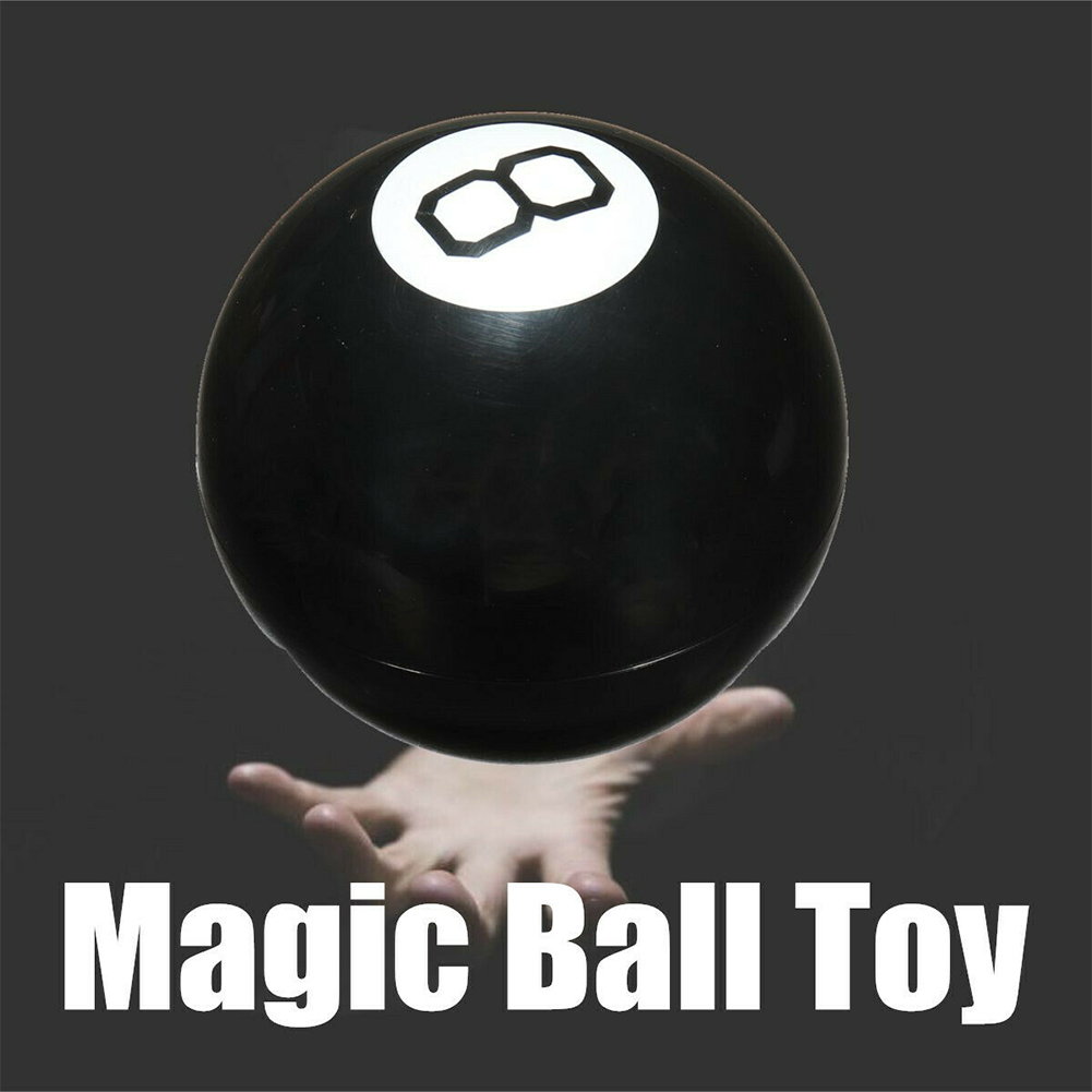 Black 8 Educational Toy Tricks Learning Funny Predict Game Magic Ball Decision Party Fun Spherical Gift Answer Fortune Portable