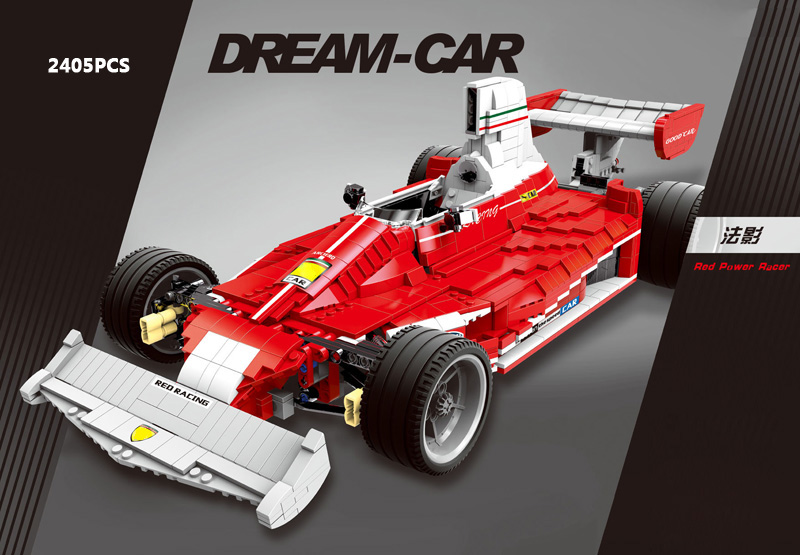 Hot dream-car moc building block Ferra France shadow F1 racing car model moc assemblage bricks toys collection for kids gifts hot modern military t92 tank moc building block model bricks toys collection for adult children gifts