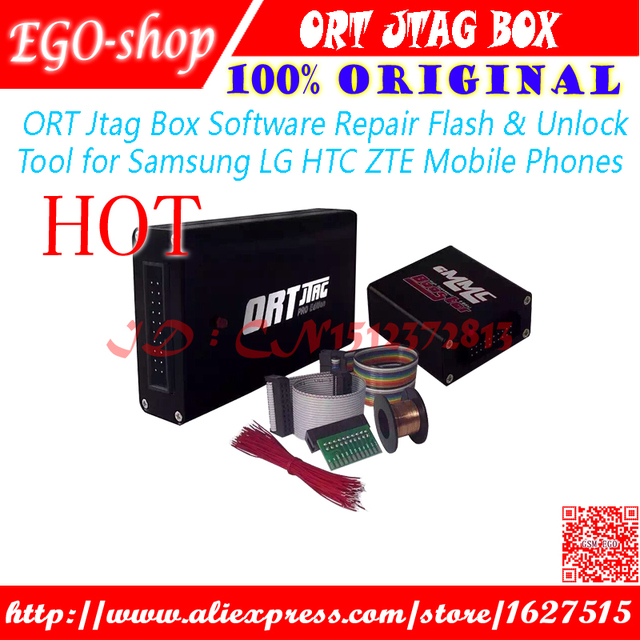 100% original ORT Jtag Box - Software Repair Flash & Unlock Tool for Samsung LG HTC ZTE Mobile Phones and Free Shipping
