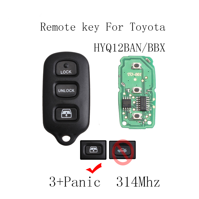 4Button Replacement Keyless Entry Remote Key For <font><b>Toyota</b></font> Sequoia <font><b>4Runner</b></font> 2001 2002 2003 2004 <font><b>2005</b></font> 2006 2007 2008 original key image