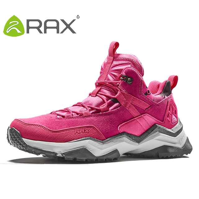 RAX Women's Hiking Shoes Waterproof Socklining for Professional Mountaining Women Anti-slip Natural Mountaining Trekking Shoes