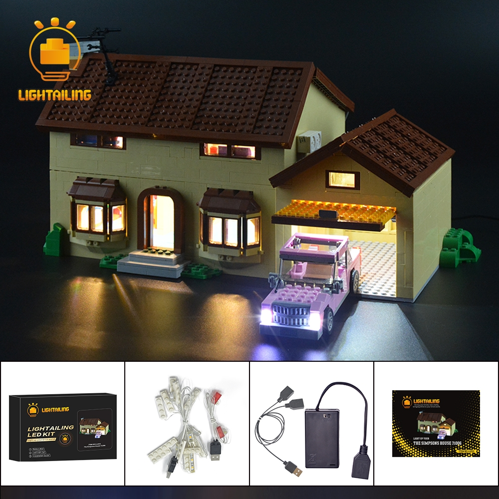 LED Lighting kit fits LEGO ® Simpsons™ House 71006