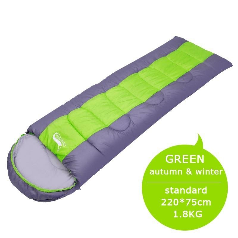 Standard 1.8KG green-Camping Lightweight 4 Season Warm Cold Envelope Backpacking Sleeping Bag