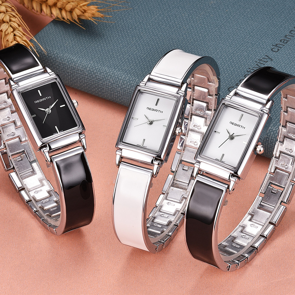 REBIRTH Fashion Women Dress Watch Luxury Brand Quartz Lady Stainless Steel Bracelet Watch Casual Clock Montre Femme Reloj Mujer fashion women watches women crystal stainless steel analog quartz wrist watch bracelet luxury brand female montre femme hotting