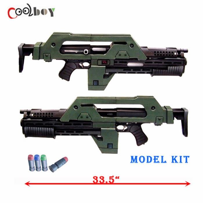 DIY 1:1 3D Puzzle Paper Gun Model For Aliens M41-A Pulse Rifle Gun ...