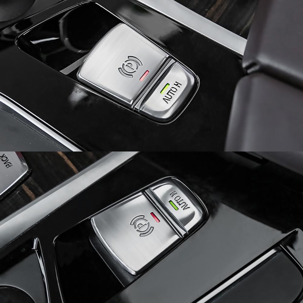 2PCS Electronic Handbrake Button Sequin Trim For BMW X5 F15 X6 F16 2015-2018