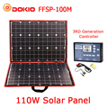 Dokio 100 w (50 W x 2 pcs) flessibile Foldble Mono Pannello Solare Per I Viaggi e Boat & Di Alta Qualità RV Portatile Pannello Solare Cina