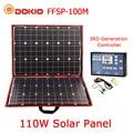 Dokio 100 w (50 W x 2 pcs) flexibele Foldble Mono Zonnepaneel Voor Reizen & Boot & RV Hoge Kwaliteit Draagbare Zonnepaneel China