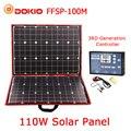 Dokio 100 w (50Wx2 piezas) flexible Foldble Mono Panel Solar para viajes en barco y en bote & RV portátil de alta calidad de Panel Solar de China