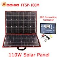 Dokio 100w(50Wx2pcs) Flexible Foldble Mono Solar Panel For Travel & Boat & RV High Quality Portable Solar Panel China
