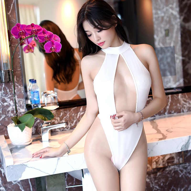 Japonais Cosplay maillot de bain été creux école combinaison corps nuit salopette femmes maillot de bain dentelle Sexy Sukumizu Body