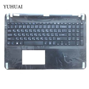 Image 5 - Russian keyboard FOR SONY VAIO SVF152 FIT15 SVF15 SVF153 SVF15E White/black RU Laptop C Shell palmrest cover