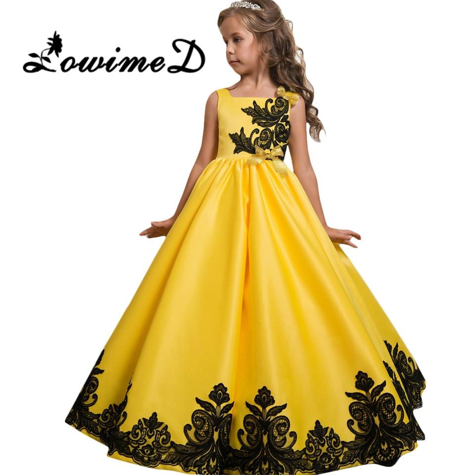 Бальное желтое платье для девочки