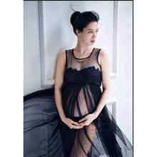 Maternity Photography Props Black Clothes For Pregnant Women Dress Pregnancy clothes photography long maternity dress